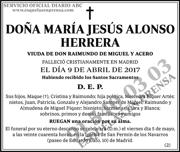 María Jesús Alonso Herrera
